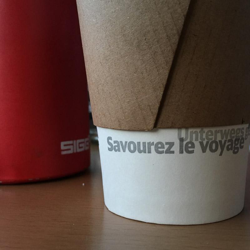 Bavière 2017 - La cafeteria me fait passer un message ; je vais tâcher de m'en souvenir