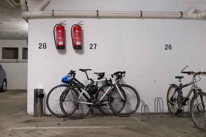 Les vélos sont en sécurité