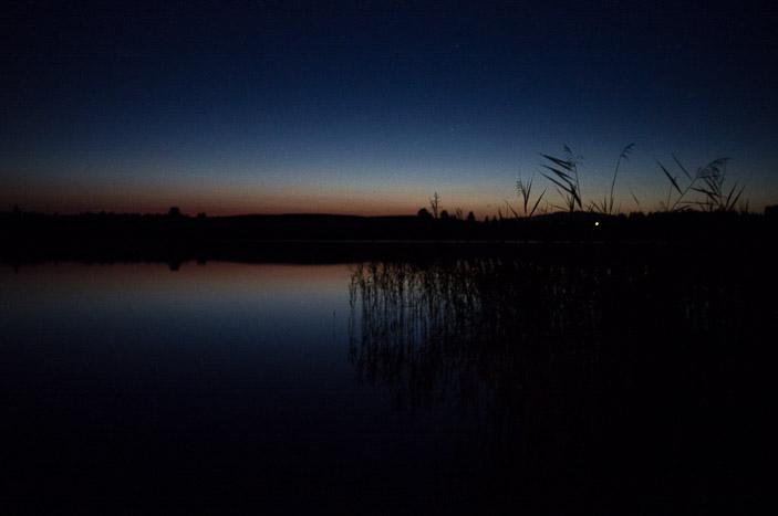 Fin du jour en bord du lac