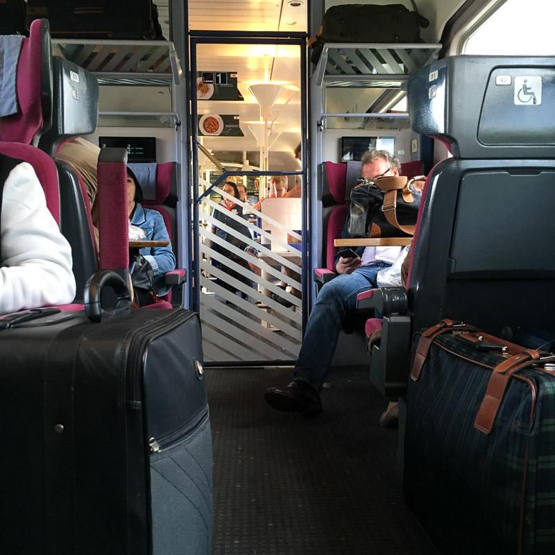 Bavière 2017 - Train Deutsche Bahn. Ce sont les vacances, il y a du monde !