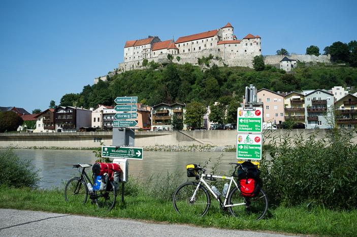 (Une petite partie) de la forteresse de Burghausen