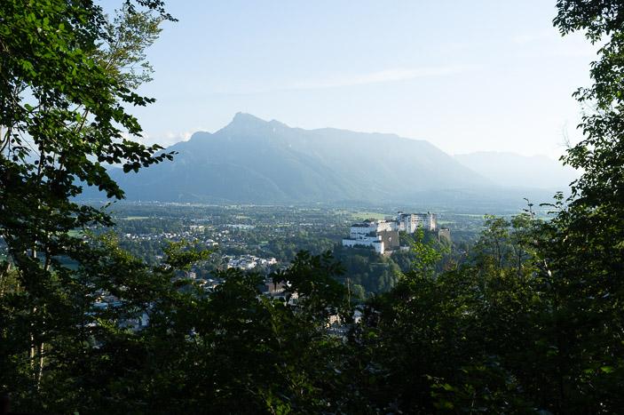 Vue sur Salzbourg et le château